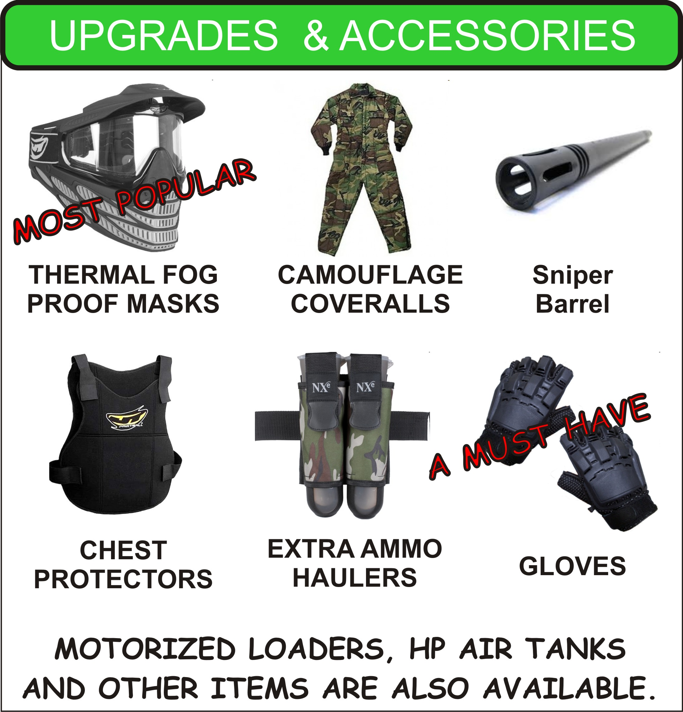 Elma Paintball rental upgrades