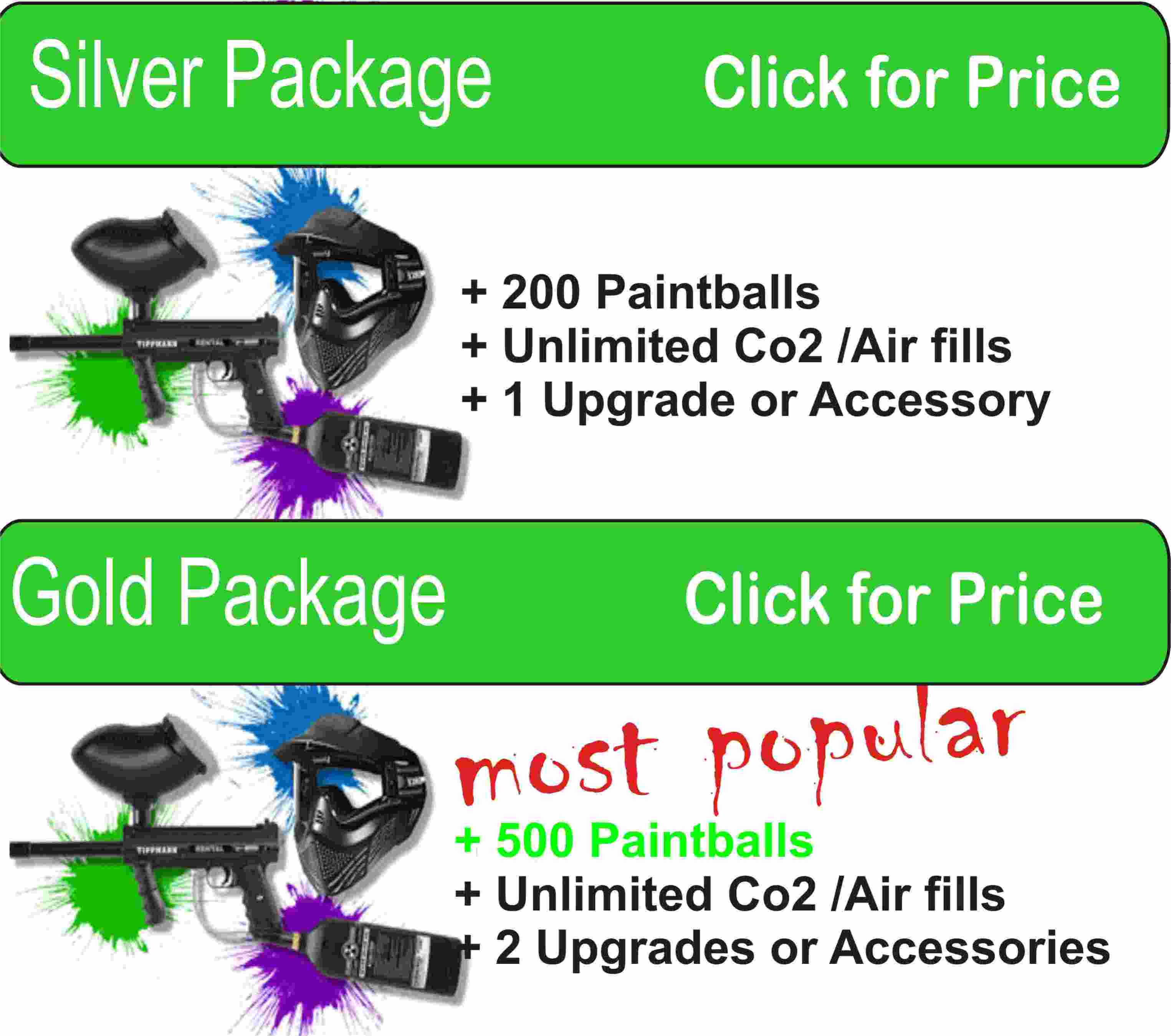 Elma Paintball Rental Package